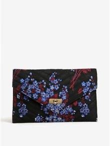 Geanta plic neagra cu model floral - Dorothy Perkins