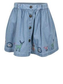 Modrá holčičí džínová sukně s výšivkami 5.10.15.