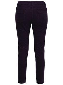 Fialové dámské manšestrákové kalhoty M&Co