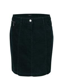 Tmavě zelená krátká manšestrová sukně M&Co