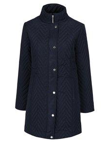 Tmavomodrý dámsky prešívaný kabát M&Co
