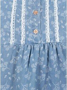 Modrá dievčenská vzorovaná blúzka 5.10.15.