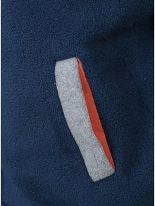 Šedo-modrá klučičí fleecová mikina s číslem na zádech 5.10.15.