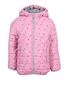 Ružová dievčenská prešívaná bunda s odopínateľnou fleecovou mikinou 2v1 5.10.15.