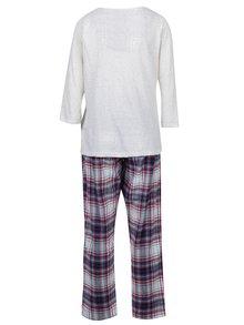 Krémové kárované pyžamo s nášivkou koal Dorothy Perkins