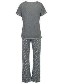 Sivé pyžamo s potlačou jednorožca Dorothy Perkins