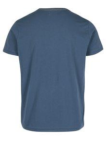 Modré pánské regular tričko s potiskem Pepe Jeans MAIDEN