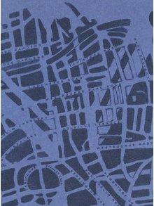 Tricou albastru&albastru inchis cu print harta Londrei Pepe Jeans GANTON