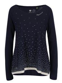 Tmavě modré dámské volné puntíkované tričko Ragwear Tilda Organic