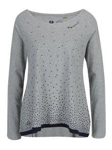 Sivé dámske voľné bodkované tričko Ragwear Tilda Organic