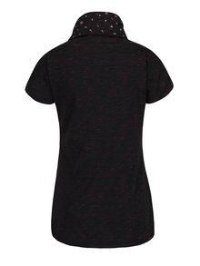Černé dámské žíhané tričko s vysokým límcem Ragwear Highway