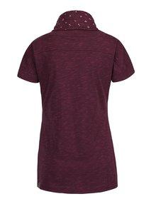 Fialové dámské žíhané tričko s vysokým límcem Ragwear Highway