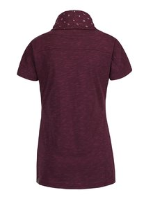 Fialové dámske melírované tričko s vysokým golierom Ragwear Highway
