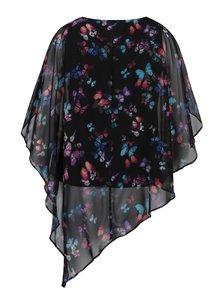 Černá květovaná asymetrická halenka Billie & Blossom