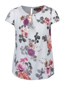 Bluza cu print floral si maneci scurte Billie & Blossom