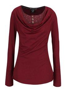 Vínové dámské dlouhé tričko s všitým dílem Ragwear Zimt