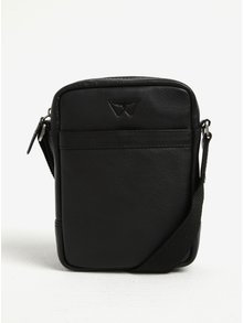 Černá pánská kožená malá crossbody taška KARA