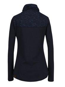 Tmavě modré dámské tričko vysokým límcem a knoflíky Ragwear Willow