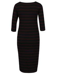 Čierne tehotenské pruhované šaty Dorothy Perkins Maternity