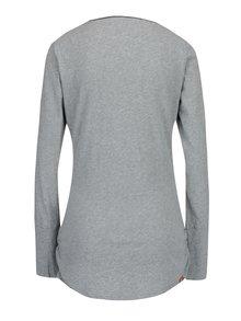 Sivé dámske melírované dlhé tričko so všitým dielom Ragwear Zimt