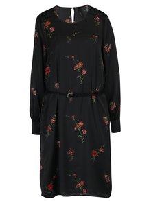 Čierne tenké šaty s opaskom Pepe Jeans CARLA