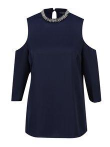 Bluza bleumarin cu decupaje si aplicatii Dorothy Perkins Tall