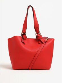 Červený shopper s jemným vzorem kabelka Dorothy Perkins