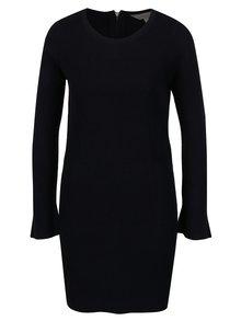 Rochie tricotata neagra cu volane la maneci Dorothy Perkins Petite