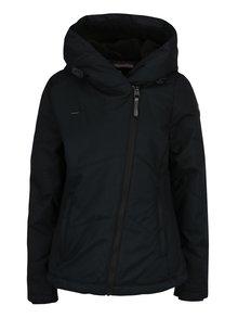 Čierna dámska vodovzdorná bunda s kapucňou a vreckami Ragwear Gordon
