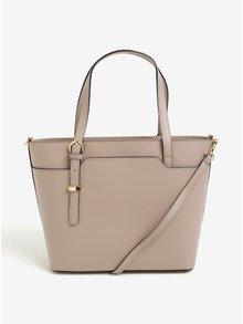 Světle růžová dámská kožená kabelka do ruky/crossbody kabelka KARA
