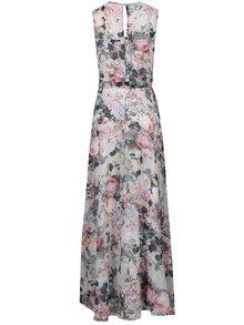 Krémové kvetované maxi šaty bez rukávov Dorothy Perkins