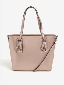 Růžová dámská kožená metalická kabelka do ruky/crossbody kabelka KARA