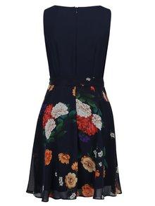 Rochie clos bleumarin cu print floral Billie & Blossom