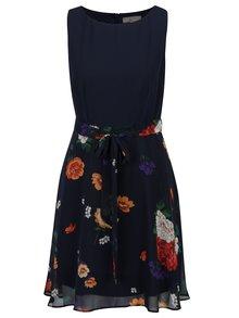 Tmavě modré květované šaty bez rukávů Billie & Blossom