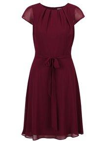 Vínové áčkové šaty se zavazováním v pase Billie & Blossom