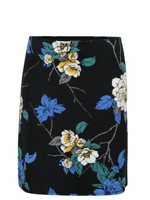 Fusta neagra cu print floral Dorothy Perkins Petite