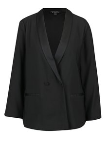 Černé lehké sako s lesklými klopami Dorothy Perkins