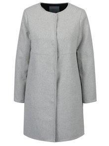 Svetlosivý melirovaný kabát Dorothy Perkins Petite
