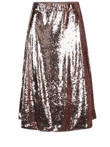 Sukňa v ružovozlatej farbe s flitrami VILA Moya