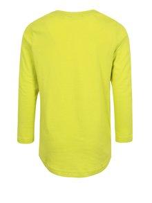 Zelené klučičí tričko s potiskem a dlouhým rukávem Blue Seven
