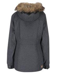 Sivá dámska zimná bunda s umelým kožúškom Ragwear Winny