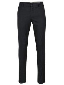 Tmavě modré formální skinny kalhoty Selected Homme Math