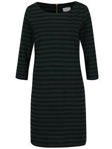 Čierno-zelené pruhované šaty s 3/4 rukávom VILA Tinny