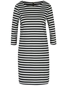 Černo-krémové pruhované šaty s 3/4 rukávem VILA Tinny