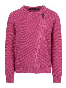 Růžový holčičí cardigan na zip Blue Seven