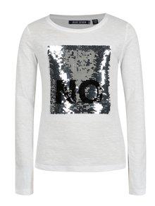 Biele dievčenské tričko s flitrami Blue Seven