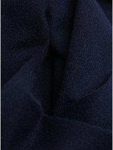 Fular de lana bleumarin cu franjuri - Selected Homme Tope