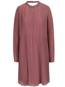 Starorůžové plisované šaty s průstřihem na zádech VILA Slet