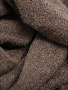 Fular maro din lana cu franjuri - Selected Homme Tope