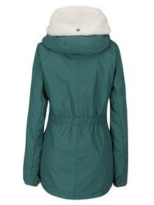 Zelená dámska zimná bunda s kapucňou a vreckami Ragwear Monica